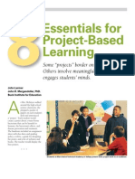 8 Essentials for Project Based Learning (Oct 2012)