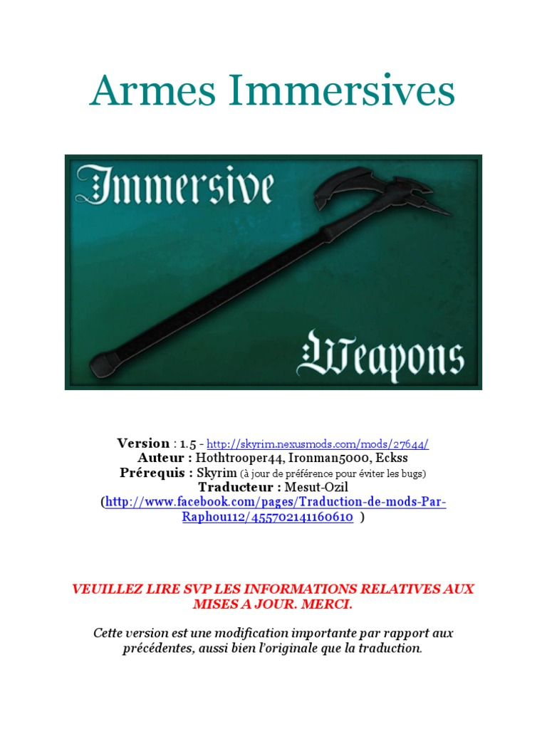 Armes Immersives | Computer File | Software Development