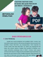 Analisis Faktor-faktor Yang Mempengaruhi Hasil Belajar Program Akselerasi