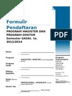 Formulir Pendaftaran ITS 2013