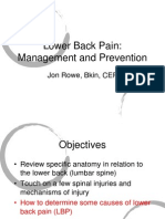 Lbp Management and Prevention