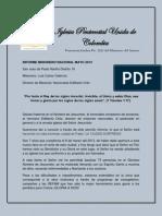 Informe Misionero Nacional Mayo 2013