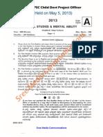 Cdpo 2013 Gs Paper