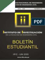 Boletin1 Instituto de Investigacion - FIC-UNI