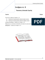 Unitatea 6_Teoreme Si Formule Cauchy