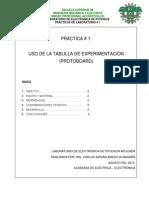 PRACTICA 1 Uso Del Protoboar