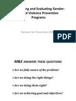 12. Monitoring and Evaluating Gender-based Violence Prevention Framework