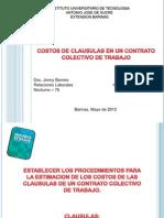 Diapositivas de Relaciones Laborales. Clausulas
