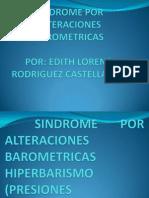 ALTERACIONES BAROMETRICAS