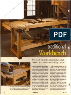 Traditional Workbench Woodsmith Volume 29 No 173