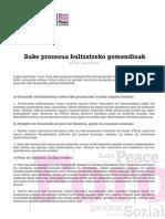 Foro Sozialaren gomendioak [2013-5-27]