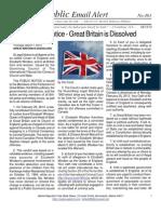 463 - ITCCS Public Notice - Great Britain is Dissolved