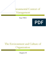 Chapter 03 the Environment and Culture of Organizations