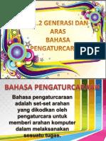 5.1.2 Generasi dan Aras Bahasa Pengaturcaraan