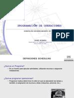 Programcion de Operaciones