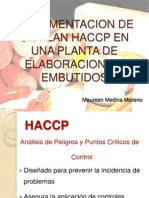 Implementacion de Un Plan Haccp en Una Planta