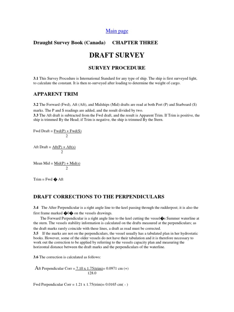 SURVEY PROCEDURE docx | Buoyancy | Ships