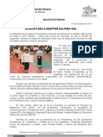 31/10/11 Germán Tenorio Vasconcelos exhorta Sso a Adoptar Cultura Vial