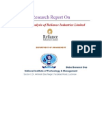 Financial Analysis of Reliance Industries Limited