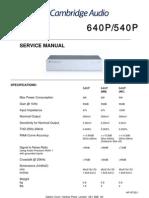 Cambridge Azur 540P-640P Service Manual