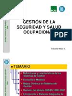 Gestión de la salud y la seguridad  ocupacional