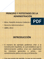 PRINCIPIO Y POTESTADES DE LA ADMINISTRACIÓN