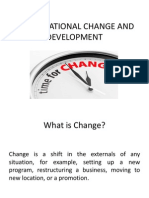 Organisational Change and Development