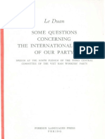 Le Duan - Some Questions Concerning the International Tasks of Our Party