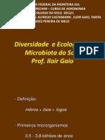 Aula 1 Diversidade e Ecologia Da Microbiota Do Solo I