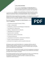 Licenciatura en Gestion Educativa Plan de Estudio