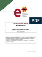 Modelo Examen Nivel a2 20noviembre Transcripcion 1
