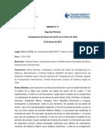 Segunda Plenaria. Comparación de planes de acción en el marco de AGA. 10 de Enero de 2013.