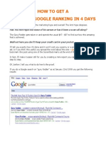 How To Get A No 1 Google Ranking In 4 Days