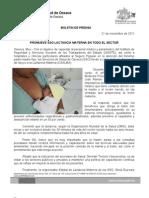 21/11/11 Germán Tenorio Vasconcelos promueve Sso Lactancia Materna en Todo El Sector