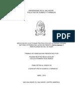 TESIS-Actividad Proteolitica de Papaina Del Latex de Papaya