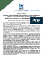 comunicato stampa conferenza comuni del 14 05 2013
