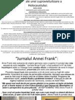 Marturii Ale Supravietuitorilor.Jurnalul Annei Frank