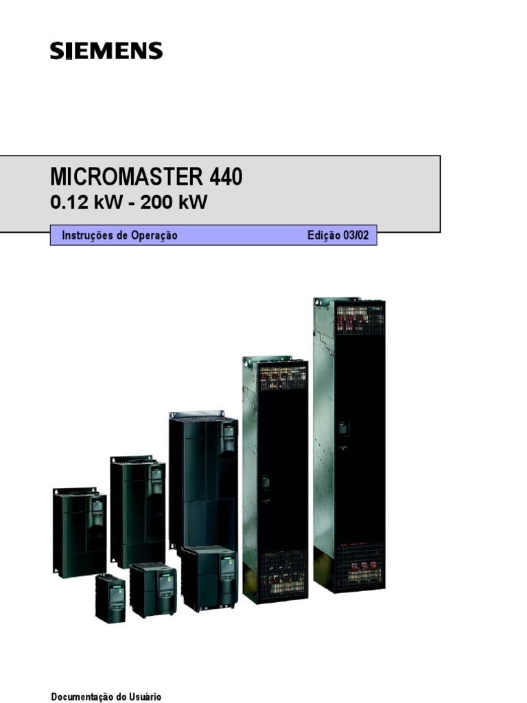 manual micromaster 440 pdf español