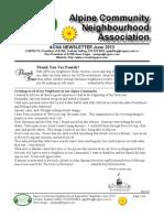 ACNA June 2013 Newsletter Final