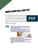 Remedio Casero Para La Gripe H1N1