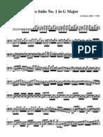 Cello Suite No 1 in G Major