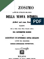 Zosimo - Della Nuova Istoria