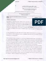 TSGE2 Examen Fin Formation 2009 Théorie