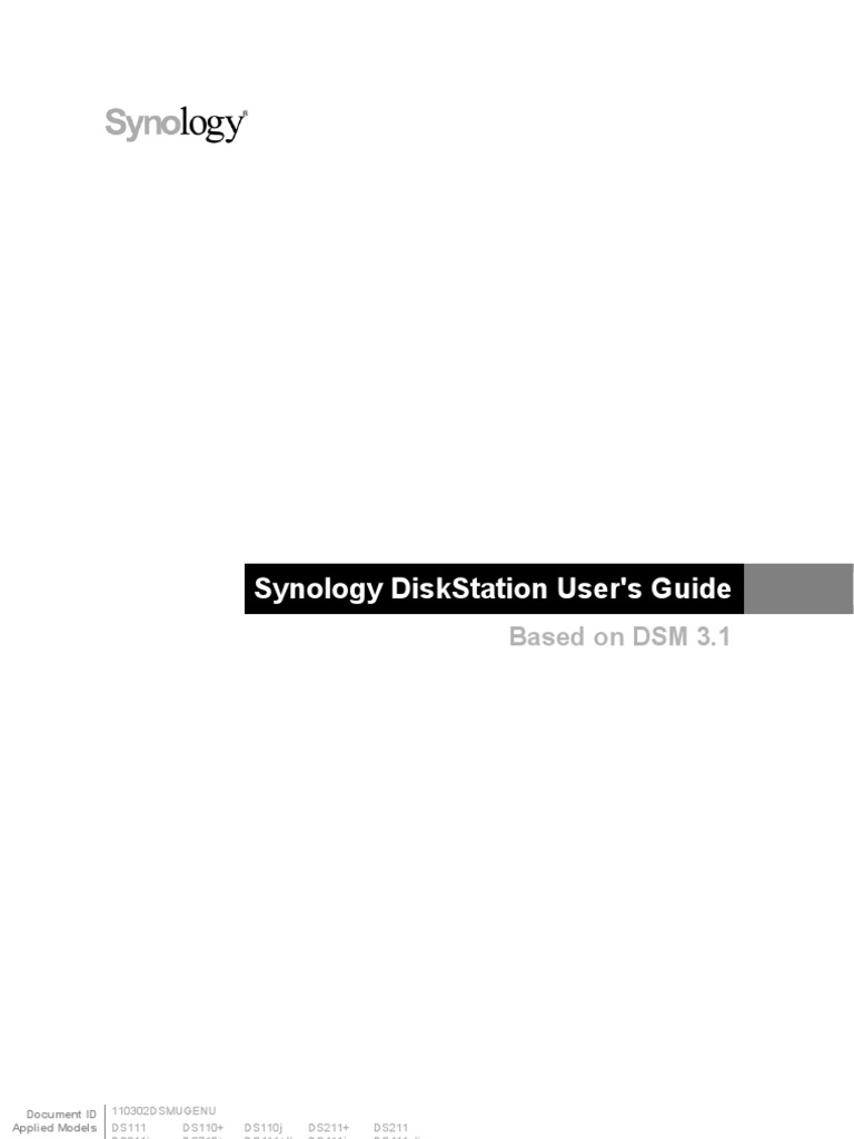 Synology UsersGuide | File Transfer Protocol | Double Click