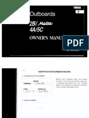 Yamaha outboard 4ac manual de servicio