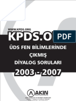 Kpdsorg 2003 2007 Uds Fen Diyalog Sorulari