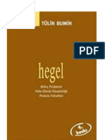 Tülin Bumin Hegel bilinç problemi, köle-efendi diyalektiği, praksis felsefesi  2001 - Kopya
