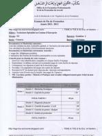 TSGE2 Examen Fin Formation 2012 Synthèse2