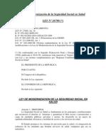 Ley de Modernizacion de La Seguridad Social en Salud (Ley No. 26790)