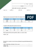 Examen de la division 5º tema 3